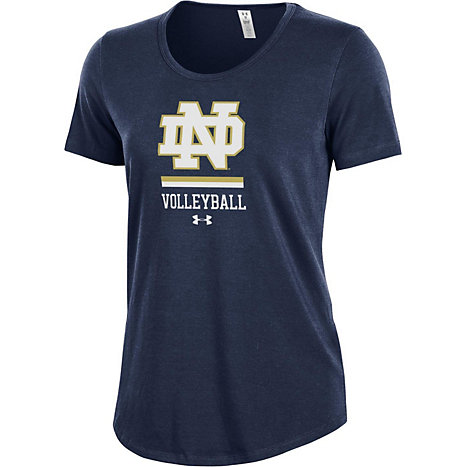 26f21cbc Product: University of Notre Dame Volleyball Women's Athletic Fit Short  Sleeve T-Shirt