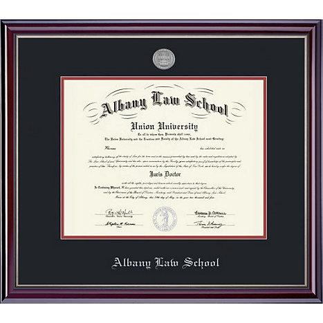 Albany Law School Classic Diploma Frame w/Medallion 14 x 17