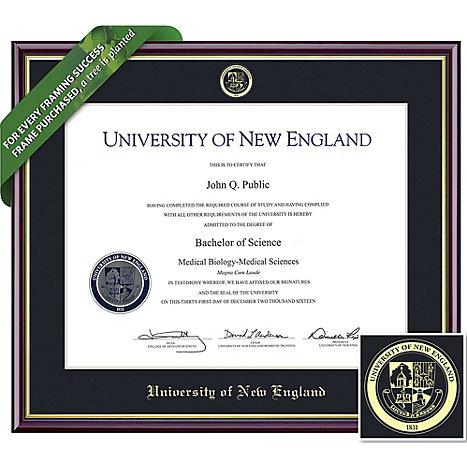 University of New England 8.5\'\' x 11\'\' Value Price Academic Diploma ...