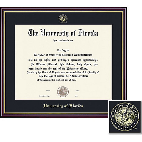 University of Florida 14\'\' x 17\'\' Value Price Academic Diploma Frame ...
