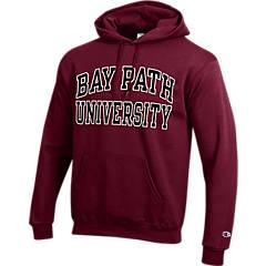 Bay Path Youth Grey Fleece Hood Field Hockey Sticks