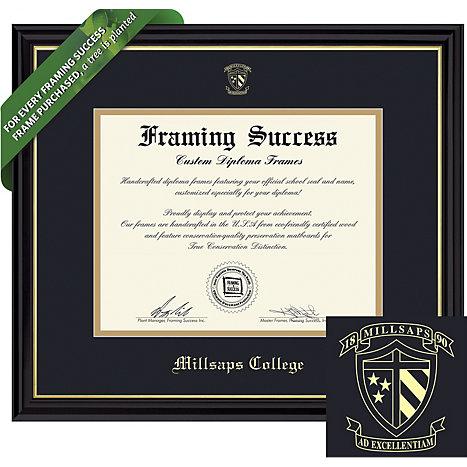 Millsaps College Diploma Frame   Millsaps College
