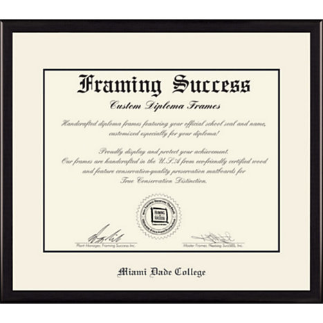 Framing Success® Miami Dade College 8x10 Value Price Diploma Frame Part 94