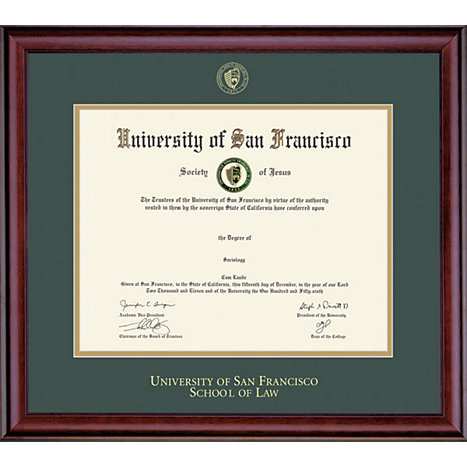 University of San Francisco 11\'\' x 14\'\' Classic Diploma Frame ...
