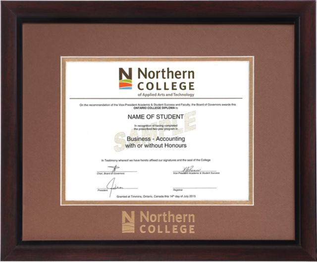 Northern College Double Mat 15 In X 18 In Brentwood Diploma Frame Northern College