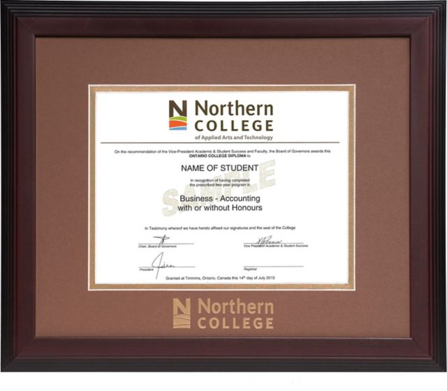 Northern College Double Mat 15 In X 18 In Linear Diploma Frame Northern College