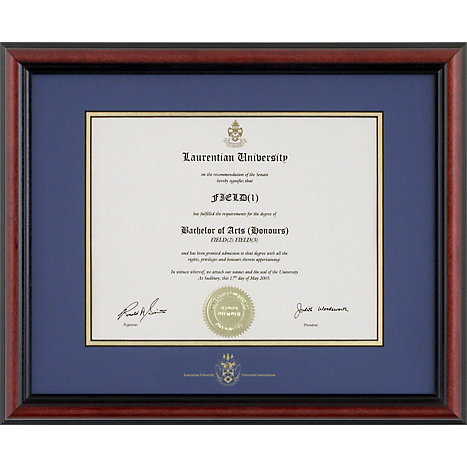Laurentian University Bostonian Diploma Frame | St Lawrence College