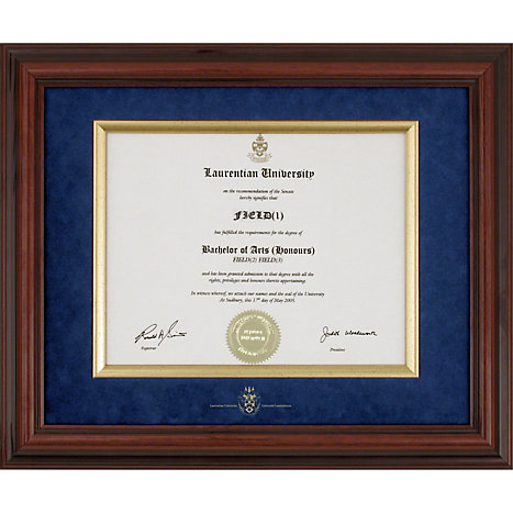 Laurentian University Diplomat Diploma Frame | St Lawrence College