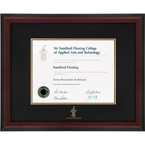 Sir Sandford Fleming College Linear Diploma Frame | Fleming College ...