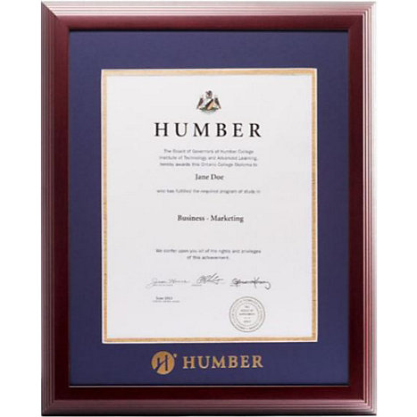 Humber College Linear Diploma Frame | Humber College