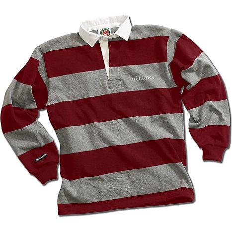 Barbarian Rugby Wear Canada University Of Ottawa Striped Shirt