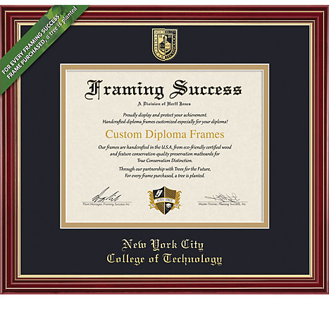 NYC College of Tech 8\'\' x 10\'\' Regal Diploma Frame | New York City ...