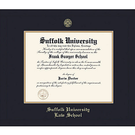 Suffolk University Law School 8.5\'\' x 11\'\' Classic Certificate Frame ...