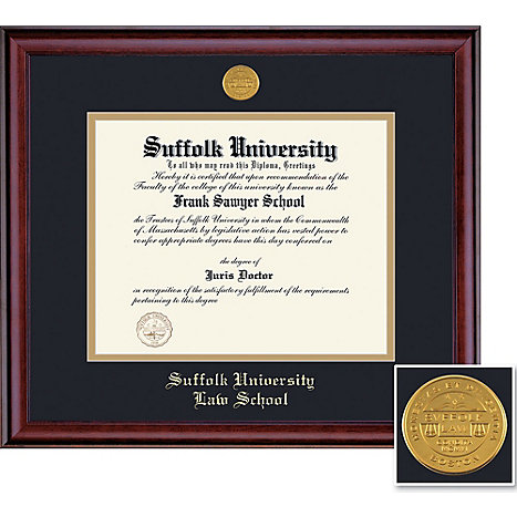 Suffolk University 14\'\' x 17\'\' Classic Law Diploma Frame | Suffolk ...