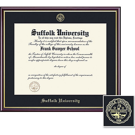 Suffolk University 14 X 17 Value Price Academic Diploma Frame