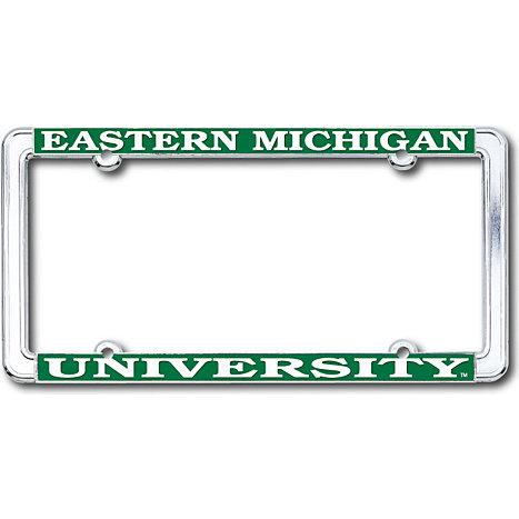 Eastern Michigan University Chrome License Plate Frame   Eastern ...