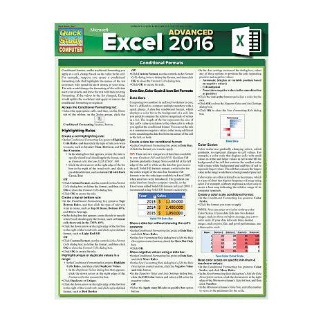Excel 2016 Advanced 9781423231882 Barcharts University Of