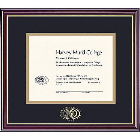 Harvey Mudd College 8.5\'\' x 11\'\' Windsor Diploma Frame   Pomona ...